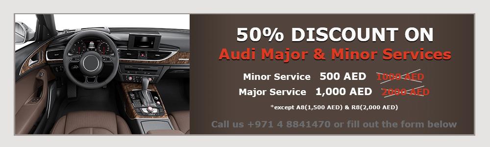 Audi Major & Minor Service Promotion