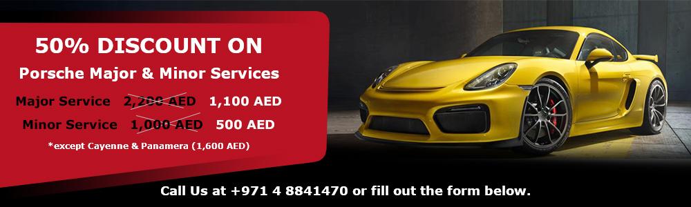 50% Discount On Porsche Major & Minor Services